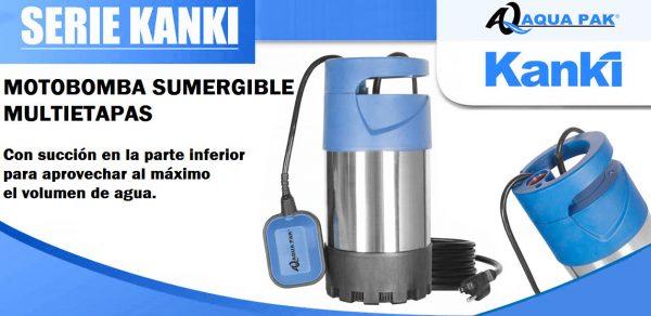 Bomba sumergible para agua sucia y cisterna Aqua Pak modelo kanki