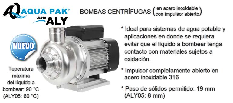 Bomba Centrífuga Aqua Pak Serie ALY