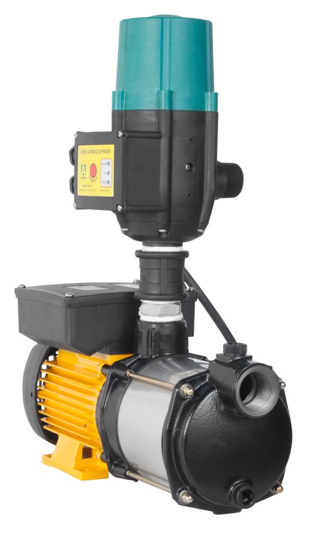 Presurizador ESPA individual compacto con kit Altamira multietapas horizontal serie Prisma15-3 3/4 HP