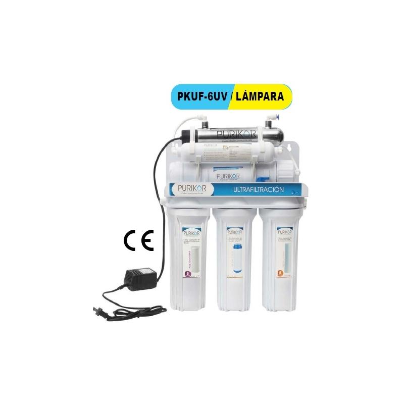 Filtro de agua punto de uso PURIKOR PKUF-6UV